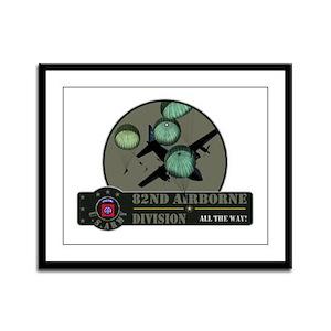 82nd Airborne Framed Panel Print