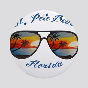 Florida - St. Pete Beach Round Ornament