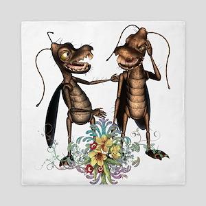 Friends funny cockroaches Queen Duvet