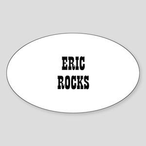ERIC ROCKS Oval Sticker