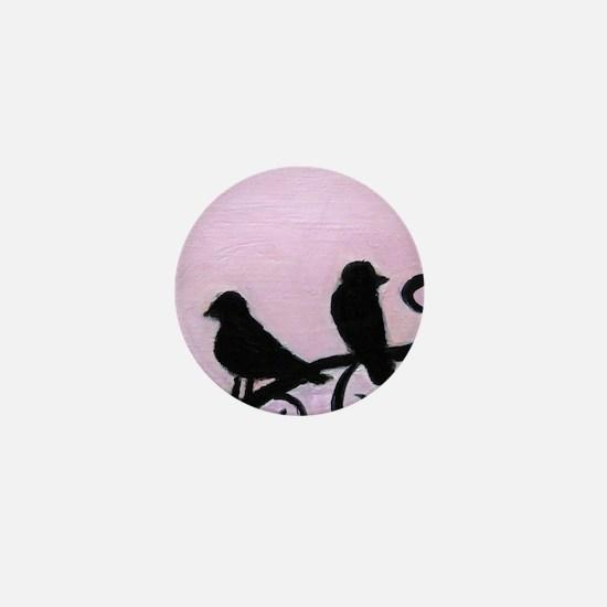 Birds Silhouette Mini Button (10 pack)