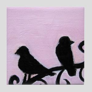 Birds Silhouette Tile Coaster
