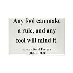 Henry David Thoreau 11 Rectangle Magnet