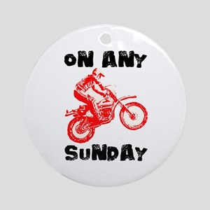 ON ANY SUNDAY Ornament (Round)