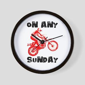 ON ANY SUNDAY Wall Clock