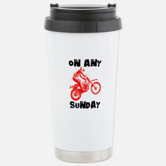 ON ANY SUNDAY Stainless Steel Travel Mug