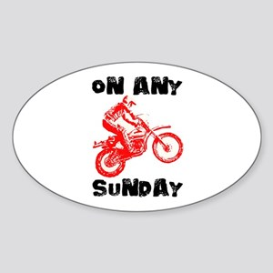 ON ANY SUNDAY Sticker (Oval)