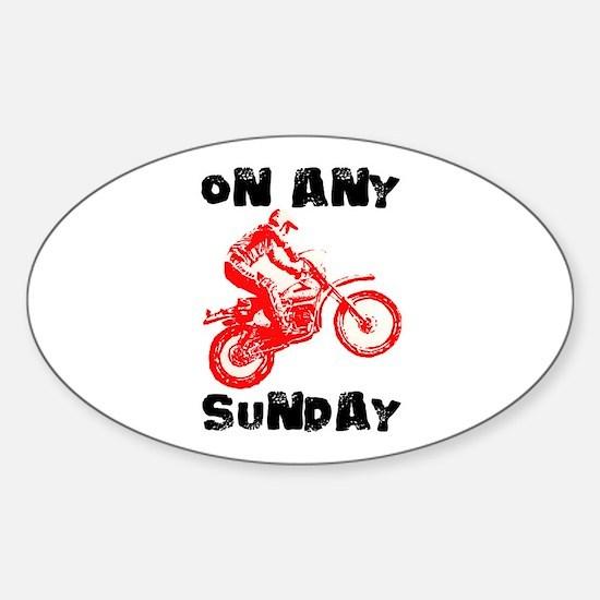 ON ANY SUNDAY Sticker (Oval)