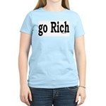 go Rich Women's Pink T-Shirt
