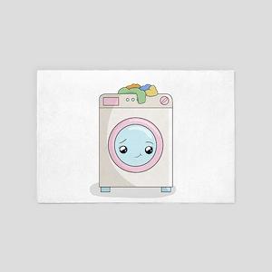 Kawaii Washing machine 4' x 6' Rug