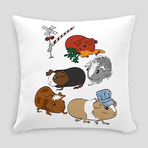 Piggie Train Everyday Pillow