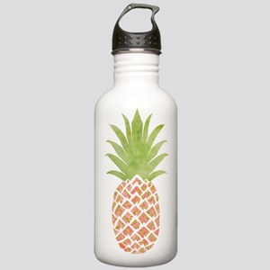Watercolor Peach Gold Pineapple Stainless Water Bo