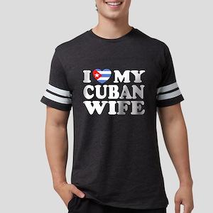 I Love My Cuban Wife Black T-Shirt