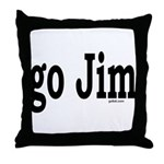 go Jim Throw Pillow