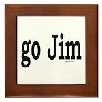 go Jim Framed Tile