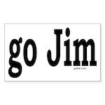 go Jim Rectangle Sticker