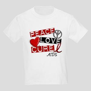 PEACE LOVE CURE AIDS (L1) Kids Light T-Shirt