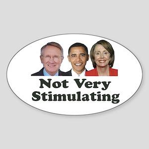 Not Very Stimulating Oval Sticker