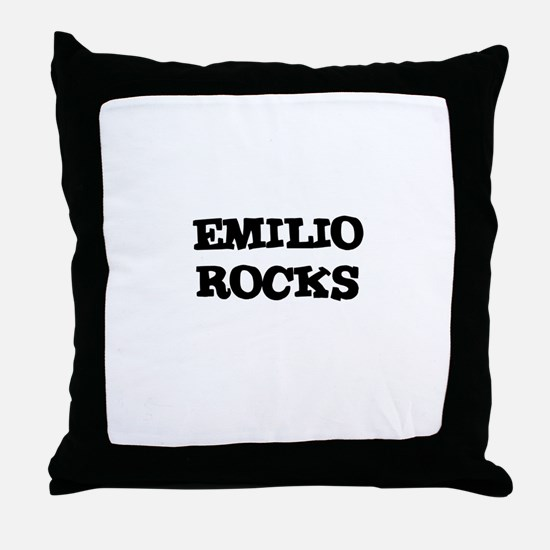 EMILIO ROCKS Throw Pillow
