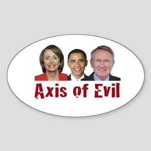 Axis of Evil Oval Sticker
