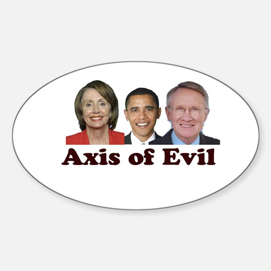 Axis of Evil Oval Decal