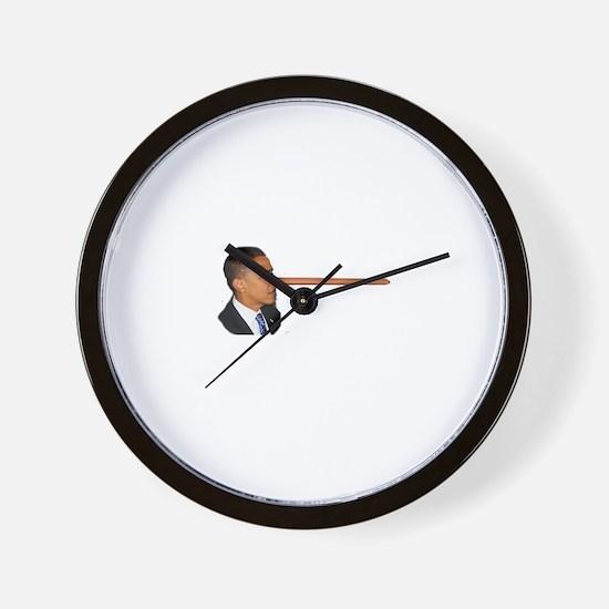 Obama-nocchio Wall Clock