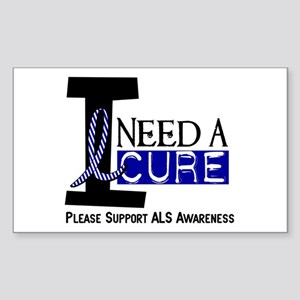 I Need A Cure ALS Rectangle Sticker