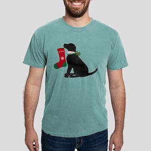 Christmas Black Lab Preppy Dog T-Shirt