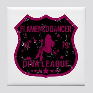 Flamenco Dancer Diva League Tile Coaster