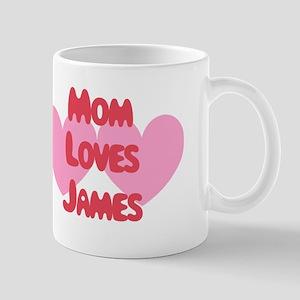 Mom Loves James Mug
