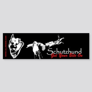 Schutzhund - Get your bite on - Bumper Sticker