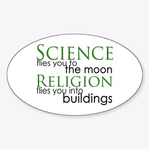 Science and Religion Oval Sticker