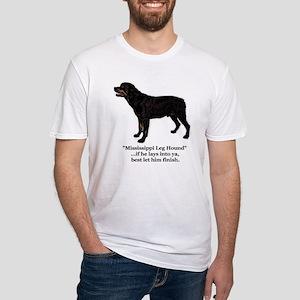 Mississippi Leg Hound Fitted T-Shirt