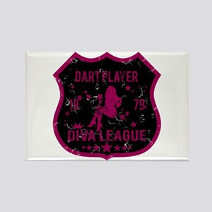Dart Player Diva League Rectangle Magnet