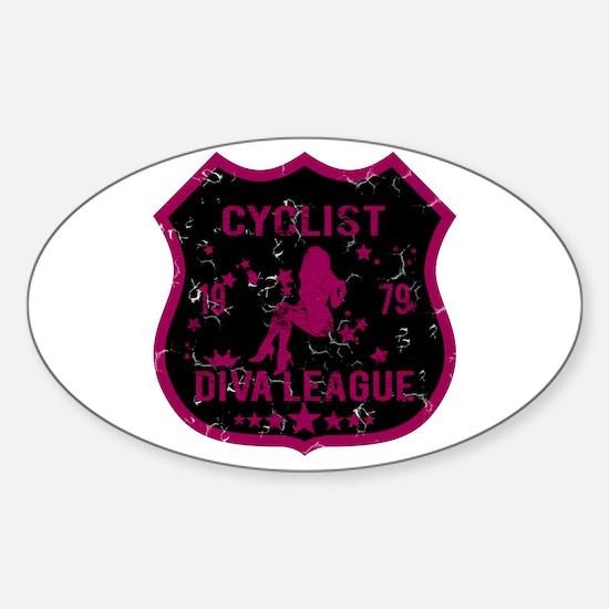 Cyclist Diva League Oval Decal