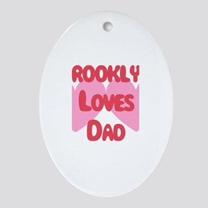 Brooklyn Loves Dad Oval Ornament