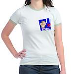 I Vote Jr. Ringer T-Shirt