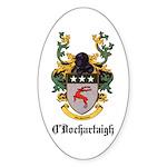 O'Dochartaigh Coat of Arms Oval Sticker (50 pk)