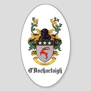 O'Dochartaigh Coat of Arms Oval Sticker