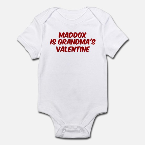 Maddoxs is grandmas valentine Infant Bodysuit