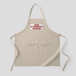 Janaes is grandmas valentine BBQ Apron