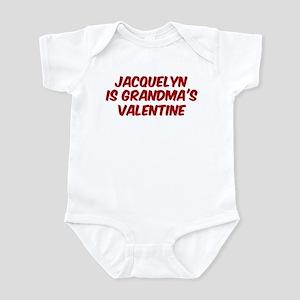 Jacquelyns is grandmas valent Infant Bodysuit