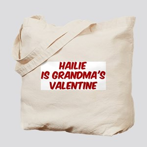 Hailies is grandmas valentine Tote Bag