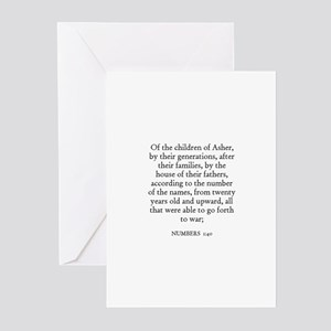 NUMBERS  1:40 Greeting Cards (Pk of 10)