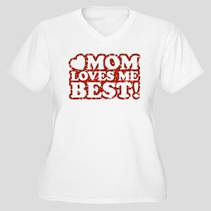 Mom Loves Me Best Women's Plus Size V-Neck T-Shirt