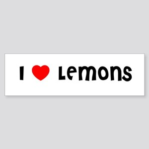 I LOVE LEMONS Bumper Sticker