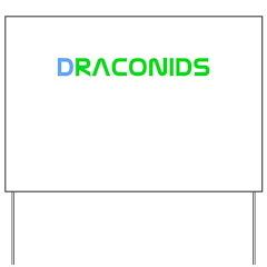 Draconids Meteor Shower Yard Sign