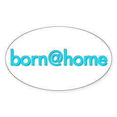 Oval Sticker/born@home