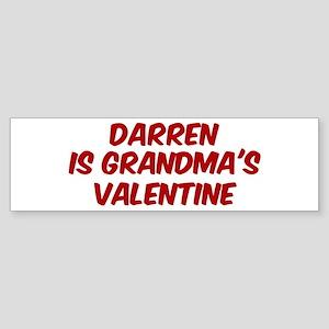 Darrens is grandmas valentine Bumper Sticker