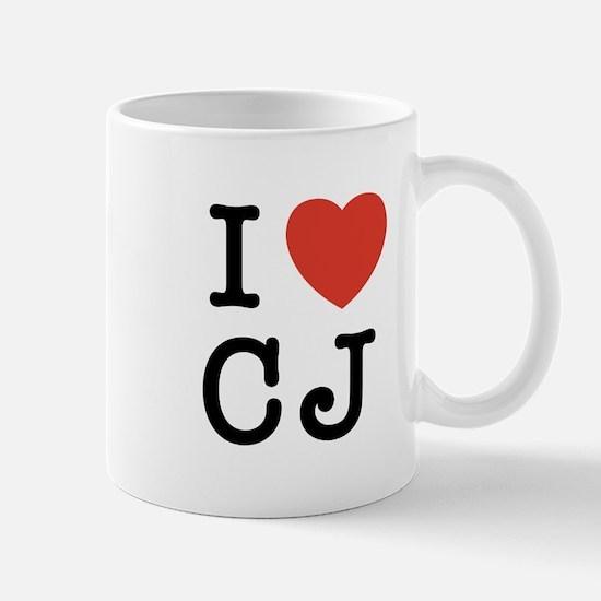 I Heart CJ Mug